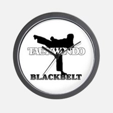 TaeKwonDo Black Belt Wall Clock