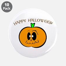 "Happy Halloween Pumpkin 3.5"" Button (10 pack)"