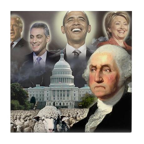 George Washington - Obama She Tile Coaster