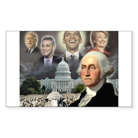George Washington - Obama She Rectangle Sticker