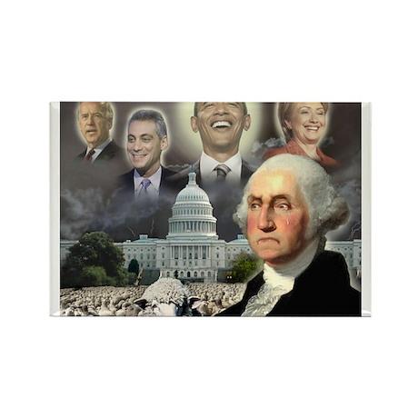 George Washington - Obama She Rectangle Magnet