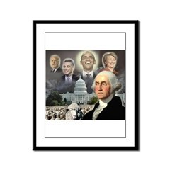 George Washington - Obama She Framed Panel Print