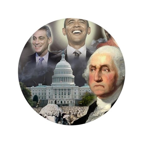 "George Washington - Obama She 3.5"" Button"