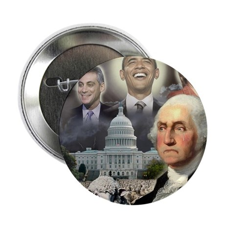 "George Washington - Obama She 2.25"" Button (100 pa"