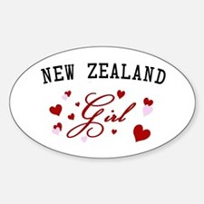 New Zealand Girl Oval Decal