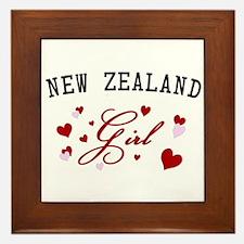 New Zealand Girl Framed Tile