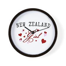 New Zealand Girl Wall Clock