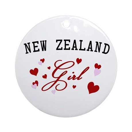 interest new zealand aotearoa new zealand girl ornament round