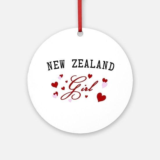 New Zealand Girl Ornament (Round)