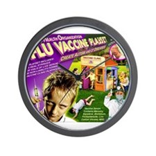 Flu Vaccine Playset Wall Clock
