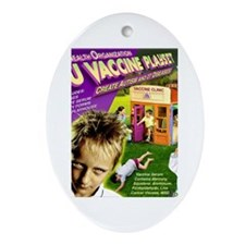 Flu Vaccine Playset Oval Ornament