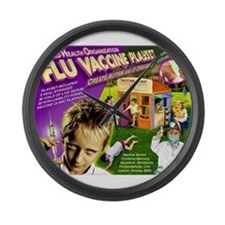 Flu Vaccine Playset Large Wall Clock