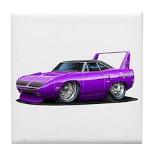 Superbird Purple Car Tile Coaster