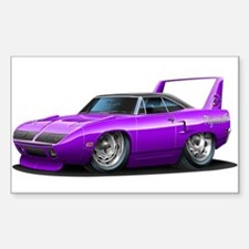 Superbird Purple Car Rectangle Decal