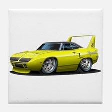 Superbird Yellow Car Tile Coaster