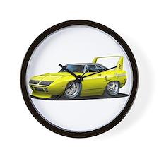 Superbird Yellow Car Wall Clock