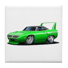 Superbird Green Car Tile Coaster