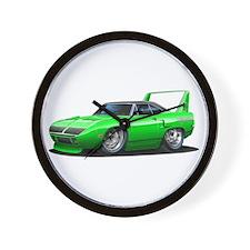 Superbird Green Car Wall Clock