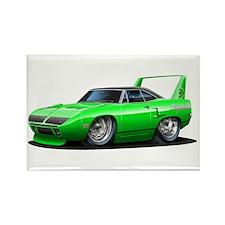 Superbird Green Car Rectangle Magnet