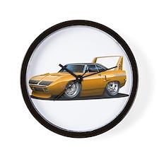 Superbird Orange Car Wall Clock