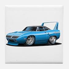 Superbird Blue Car Tile Coaster