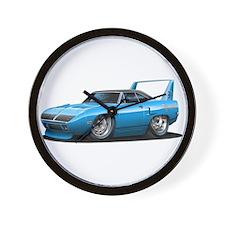 Superbird Blue Car Wall Clock