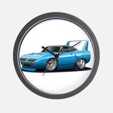 Superbird Blue Car Wall Clock