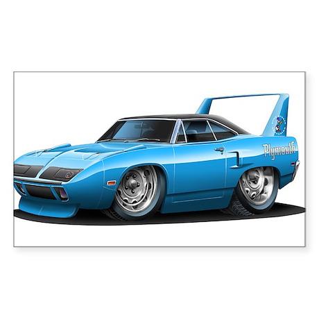 Superbird Blue Car Rectangle Sticker