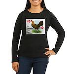 Input-Output Women's Long Sleeve Dark T-Shirt