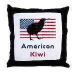 American Kiwi Throw Pillow