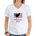 American Kiwi Women's V-Neck T-Shirt