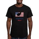 American Kiwi Men's Fitted T-Shirt (dark)