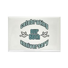 60th Wedding Doves Anniversary Rectangle Magnet