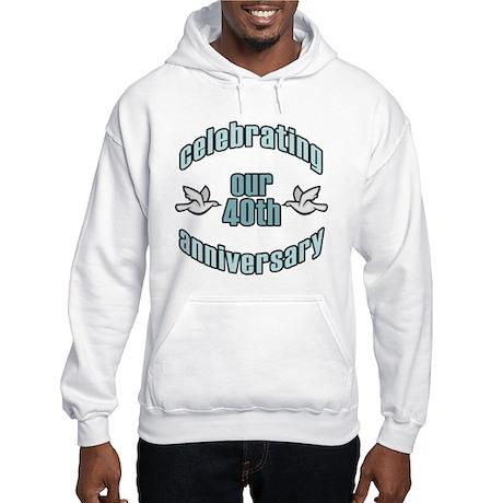 40th Wedding Doves Anniversary Hooded Sweatshirt