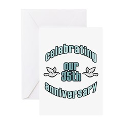 35th Wedding Doves Anniversary Greeting Card