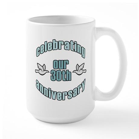 30th Wedding Doves Anniversary Large Mug