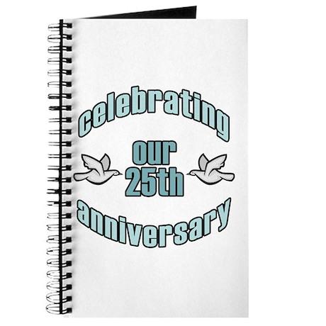 25th Wedding Doves Anniversary Journal