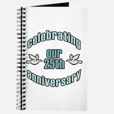 25th Wedding Doves Anniversary Journal
