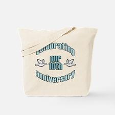 10th Wedding Doves Anniversary Tote Bag