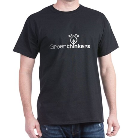 Greenthinkers White on Black T-Shirt