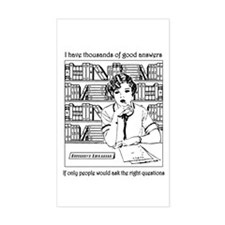 Reference Librarian Rectangle Decal