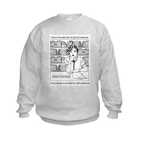 Reference Librarian Kids Sweatshirt