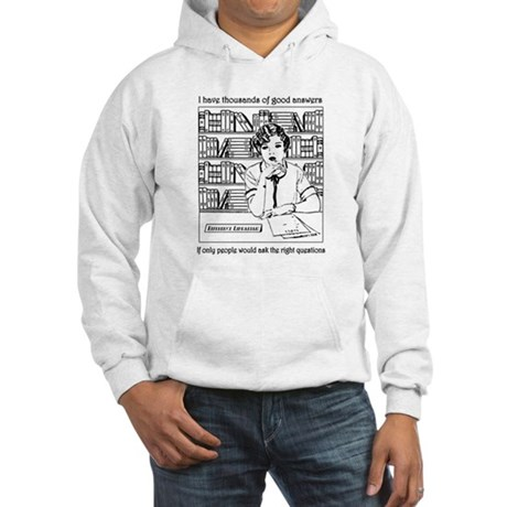 Reference Librarian Hooded Sweatshirt