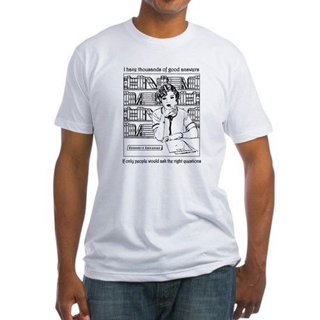 Reference Librarian Fitted T-Shirt
