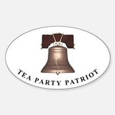 TEA Patriot Bell Oval Decal