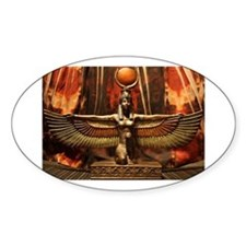 Goddess Isis Oval Decal
