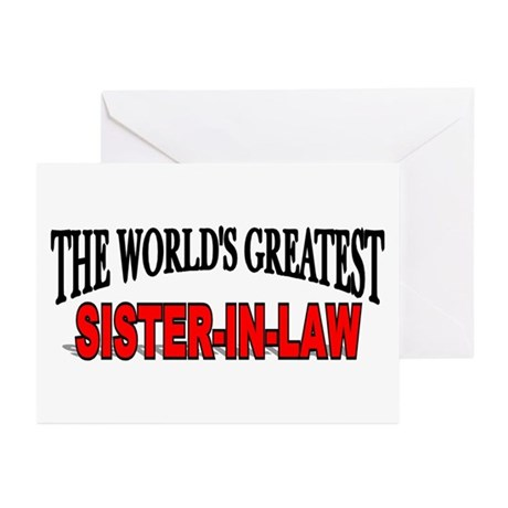 """The World's Greatest Sister- Greeting Cards (Pack"