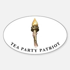 TEA Patriot Torch Oval Decal
