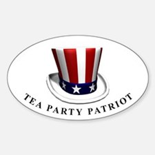 TEA Patriot Tophat Oval Decal