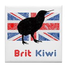 Brit Kiwi Flag Tile Coaster